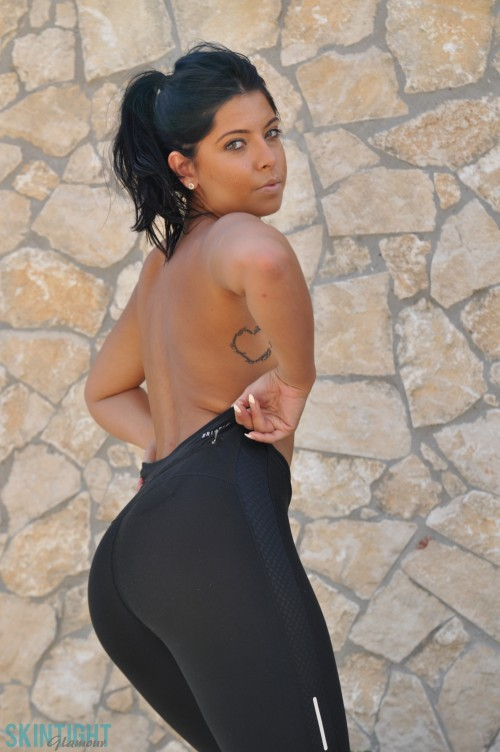 Cara De La Hoyde Nude Tight Yoga Pants Perfect Round Ass Pussy - Picture 11